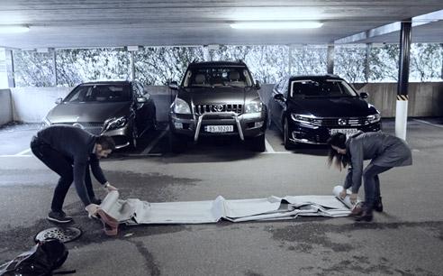 Voorbereidingen auto blussen