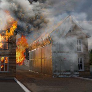 brandzeilen hittewerend