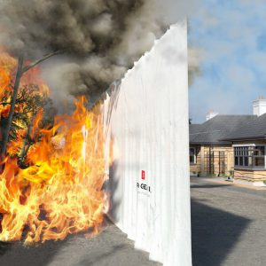 Brandzeilen tegen vlammen